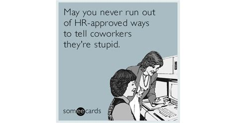 hr approved ways to tell coworkers they re stupid blank lined journal 6x9 humorous gift for coworkers books image gallery someecards workplace