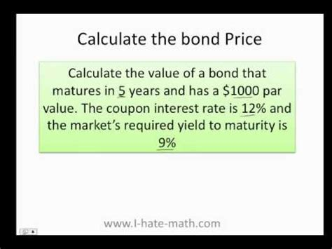 calculator yield to maturity ytm trump