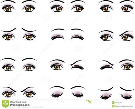 clipart occhi yeux femelles de vecteur dans l 233 motion diff 233 rente