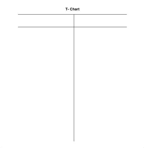 t chart template for word t chart template 17 exles in pdf word excel free