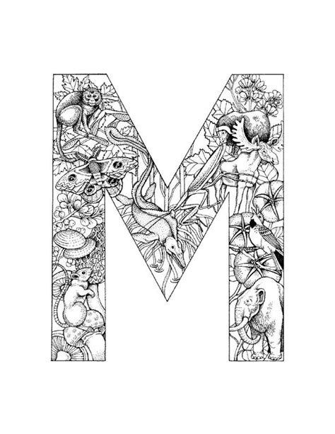 free coloring pages of the letter m design