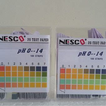 Gambar Alat Ukur Ph Air kertas ukur ph air ph test paper 100 nesco