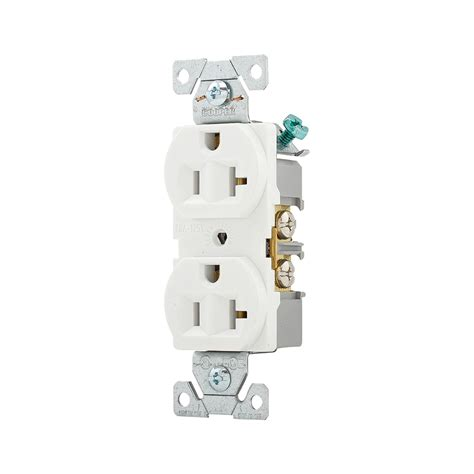 shop cooper wiring devices 10 pack 20 white duplex