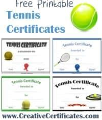 tennis gift certificate template free tennis certificate templates customizable printable