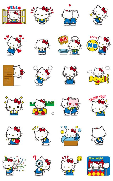 hello animated stickers line stickers