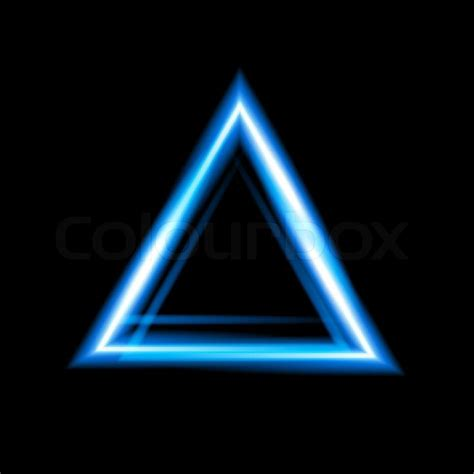 Triangel Neon by Blue Neon Triangle Background Triangle Border With Light