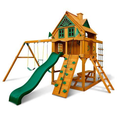 treehouse swing set chateau treehouse swing set w amber posts