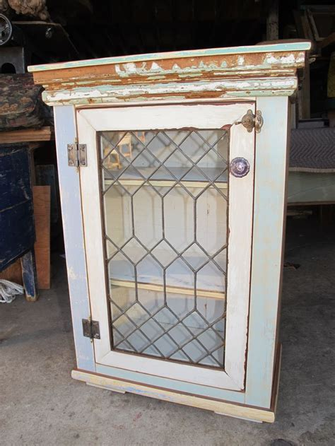 lead glass cabinet doors small cabinet leaded glass door cottage bathroom