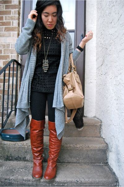 brown russe boots black forever 21 shirts