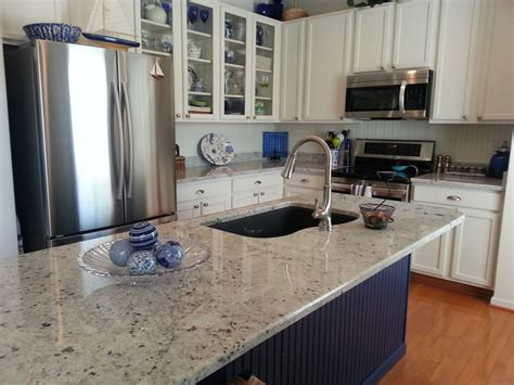 Colonial Granite With White Cabinets colonial white granite kitchen with white