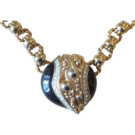 necklace craft signed craft vintage designer runway necklace from