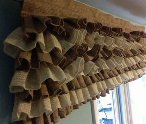 burlap ruffled curtains curtain burlap curtain ruffle burlap curtain burlap