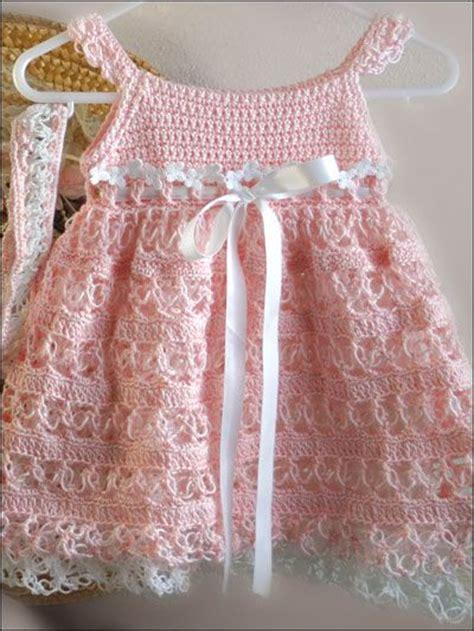Dress D 225 crochet sailor dress and beret pattern pink