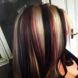 how to dye hair with black chunks 17 best ideas about red blonde on pinterest red blonde