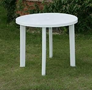 White Plastic Patio Table Progarden White Plastic Garden Patio Table Parasol Holder Slot 326703