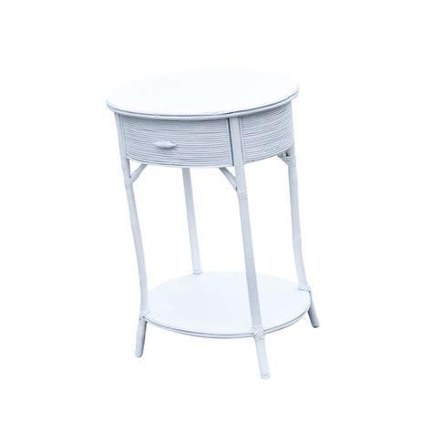 White Wicker Table mid century white wicker side table ebay