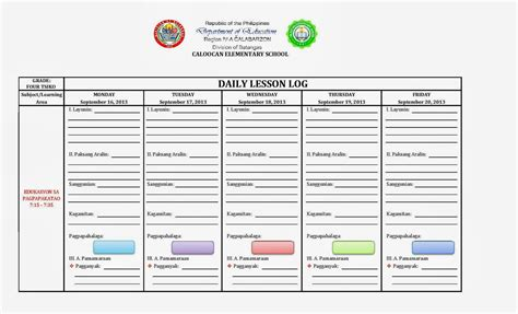lesson plan template deped lesson plan for grade 11 filipino ph lesson plans and