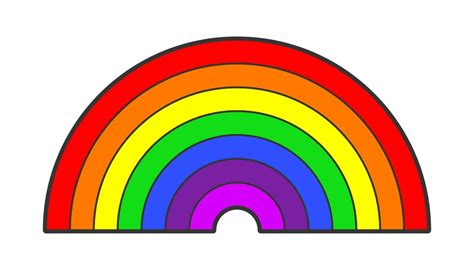 Pictures Of Rainbows To Color by What Are The Colors In The Rainbow Sciencing