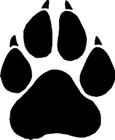Large Paw Print Clip by 1000 Images About Silhouettes On