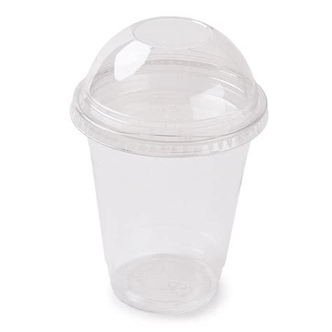 12 oz parfait cup with 2 oz fabri kal insert and dome