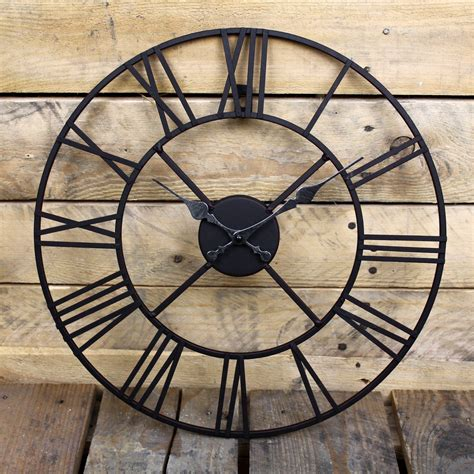 garden wall clocks funky buys 60cm classic vintage cast iron garden wall