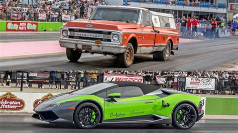 truck lamborghini farmtruck vs lambo 1320video