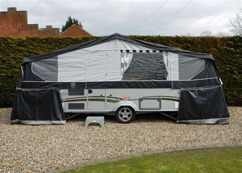 awning for tent trailer pennine quartz 6 folding cer caravan trailer tent