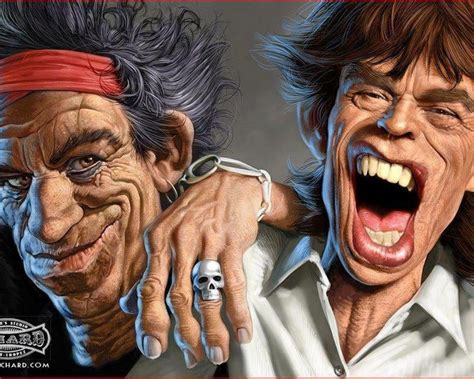 rolling stones caricature wallpapers  rock mick jagger rolling stones keith