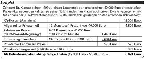 fahrten zwischen wohnung und arbeitsstätte berechnung steuerliche ber 252 cksichtigung kfz kosten teil 3 ein