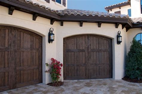 Florida Garage Doors Ackue Fatezzi Faux Wood Carriage House Style Garage Doors Add Curb Appeal To This Florida