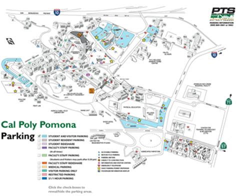 cal poly pomona map parking