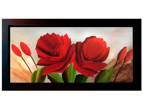 cuadros al oleo de flores modernos cuadros de flores modernos 140x60 con o sin marco madera