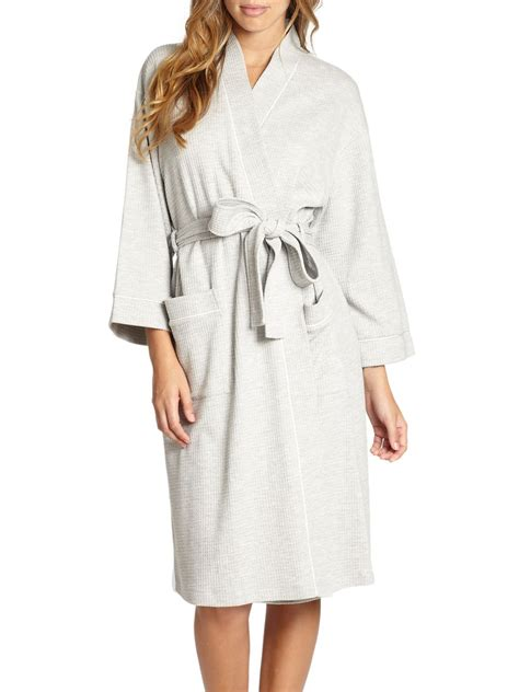 waffle knit robe cottonista waffle knit robe in white lyst