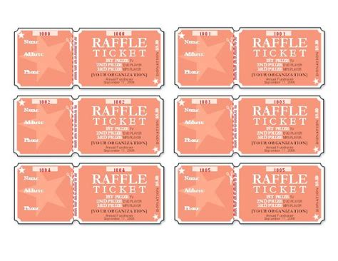staples printable tickets template raffle tickets template 8 per page images