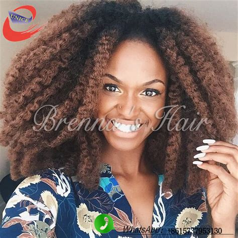havana mambo twist Afro braid kinky curly ombre color hair
