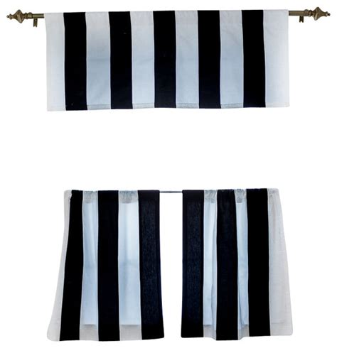 black and white cafe curtains organic stripe cafe curtain black and white 24x28