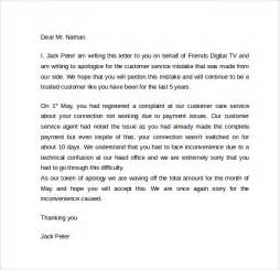 Customer Service Apology Letter Sle Sle Apology Letter To Customer 7 Documents In Pdf Word