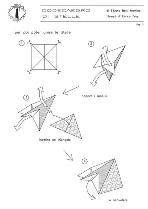 Origami Modular Diagrams - modular free diagrams instructing you how to fold unit