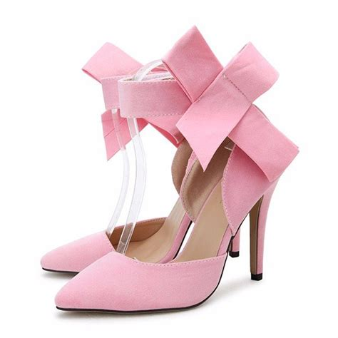 New Arrival High Heel Shoes 2799 5 Sepatu Wanita Branded Impor butterfly knot removable slim pointed toe high heel