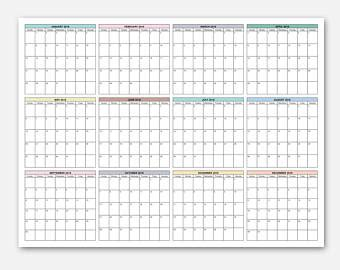printable year planner 2018 a3 2018 calendar simple calendar 2018 year calendar 2018
