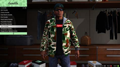 Supreme X Bape bape x supreme hoodies gta5 mods