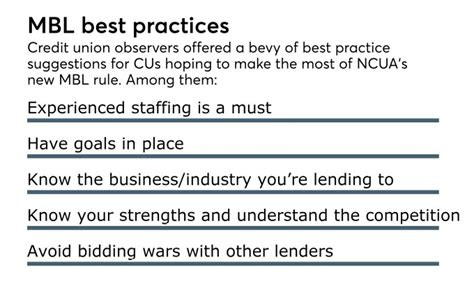 cuna quantivate mbl rules may be new but time honored principles still