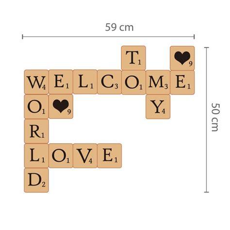 Buchstaben Wand Sticker by Walplus Wandsticker Buchstaben Im Scrabble Look