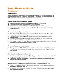 Management Review Template by Sle Management Review Templates 6 Free Documents