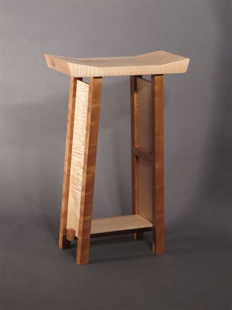 Handmade Wooden Bar Stools - items similar to bar stools modern zen wood bar narrow