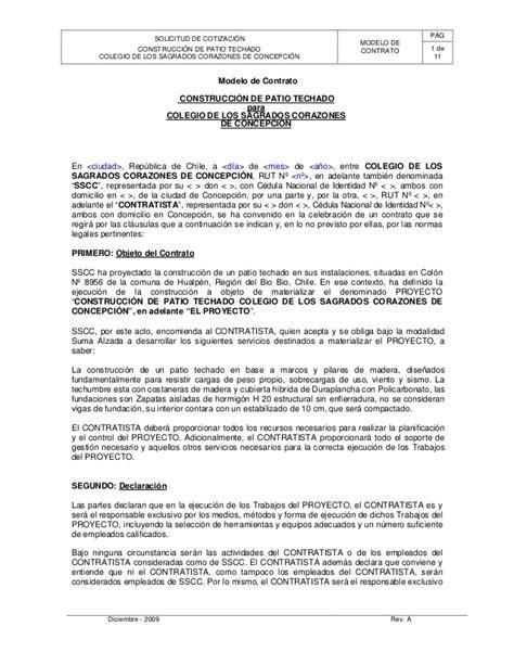 formato modelo o ejemplo de contrato de asimilados a salarios modelo de contrato de obra civil
