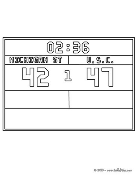 Basketball Scoreboard Coloring Pages | basketball scoreboard coloring pages hellokids com