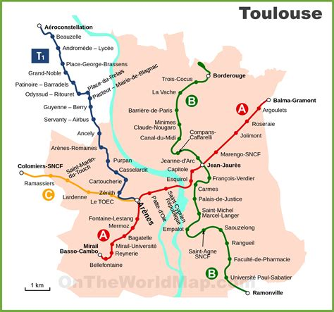 map of toulouse toulouse metro and tram map