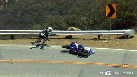 Motorrad Fahren Autobahn by R6 Lowside Crash On Downhill Section Of Mulholland Hwy