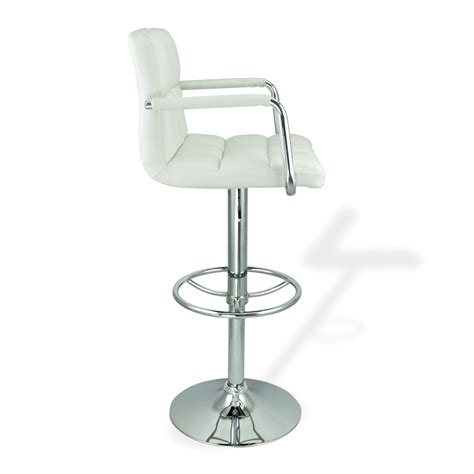 white leather swivel bar stools 2 white w arm swivel bar stool pu leather modern